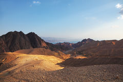 Early morning in  mountains of Sinai Stock Photo