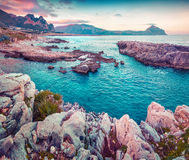 Early morning on the nature reserve Monte Cofano Royalty Free Stock Photography