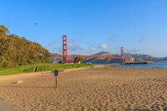 Early morning near the Golden Gate Bridge Stock Image
