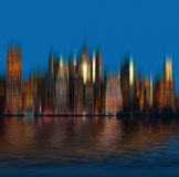 Early morning New York City skyline panorama Royalty Free Stock Image