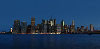 Early morning New York City skyline panorama Royalty Free Stock Photography