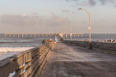 Early Morning on the Ocean Beach Fishing Pier Stock Photography