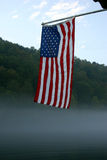 Early morning old glory stock images