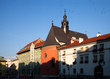 Early morning in old Krakow Stock Photos