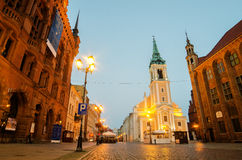 Early morning in Old Town of Torun, Poland Royalty Free Stock Photography