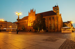 Early morning in Old Town of Torun, Poland Stock Photos