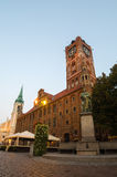 Early morning in Old Town of Torun, Poland Royalty Free Stock Images