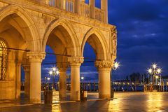 Free Early Morning On Piazza San Marco Near The Doge`s Palace, Venice Stock Photos - 109197523