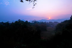 On early morning at Oop Kaew view Royalty Free Stock Image