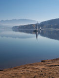 Early morning at Orava reservoir Stock Photos