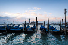 Early morning over the Venice Grand Canal Royalty Free Stock Photo