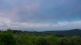 Early morning over vineyards, Tuscany, Italy stock footage