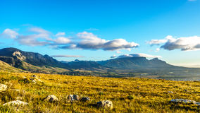 Early morning over the Western Cape with Cape Town and Table Mountain Stock Image