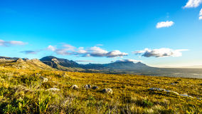 Early morning over the Western Cape with Cape Town and Table Mountain Royalty Free Stock Photo