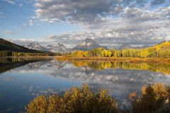 Early morning at Oxbow Bend Stock Photography
