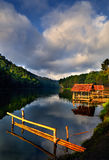 Early Morning at Pang-Ung. Early morning time at Pang-Ung, the most beautiful reservoir in Mae Hong Son province, northern part of Thailand royalty free stock photo