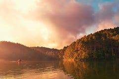 Early Morning at Pang-Ung Royalty Free Stock Photography