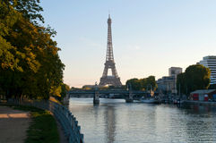 Early morning in Paris Royalty Free Stock Photo