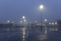 Early morning parking lot stock photography