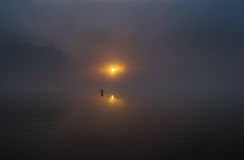 Early morning. Photographed in late autumn morning on the fishing lures in a suburb of Saransk Royalty Free Stock Images