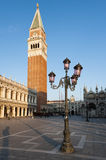 Early morning at the Piazza San Marco Royalty Free Stock Images