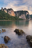 Pinnacles at Railay beach, Thailand Royalty Free Stock Photo