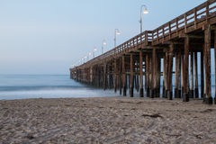 Early Morning at the pier. Ventura pier early in the morning Stock Images