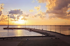 Early morning at the pier Royalty Free Stock Photography