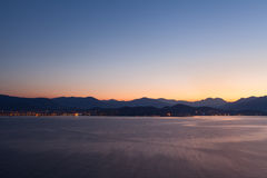 Early morning in the port of Ajaccio. Corsica, France Stock Photo