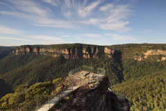 Early morning at Pulpit Rock Blue Mountains Australia Royalty Free Stock Images