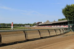 Early morning at the rail, Travers Stakes,Saratoga,New York,2015 Royalty Free Stock Image