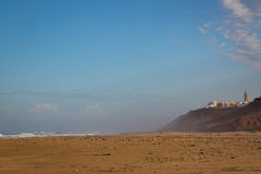 Early in the morning after rain on beach of Sidi Ifni Stock Photography
