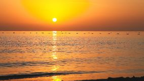 Amazing sunrise on the Red Sea in Egypt stock video footage