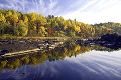 Early morning reflections,autumn Stock Photography