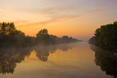 Early morning on river Stock Photography