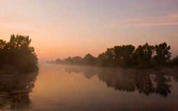 Early morning on river Royalty Free Stock Photography