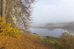 Early morning on the river Soroti in the estate Trigorskoye. RUSSIA, PSKOV REGION, TRIGORSKOYE - OCTOBER 5: Early morning on the river Soroti in the estate Stock Image