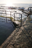 Early morning rock pool. On the NSW coastline Royalty Free Stock Images
