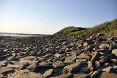 Free Early Morning Rocky Beach Stock Photography - 58642162