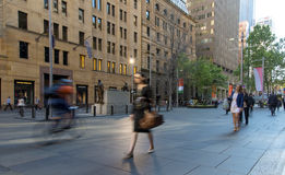 The early morning rush to work. Through Sydneys Martin Place Stock Images
