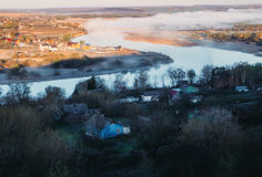 Early morning in Russian province. Royalty Free Stock Images