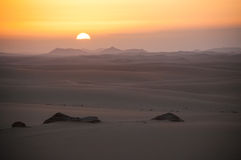 Early morning in Sahara desert in Egypt Royalty Free Stock Photo