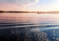 Early morning on the Saimaa lake Royalty Free Stock Photos
