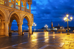 Early morning in the San Marco square near the Doge`s Palace, Venice Stock Images