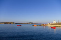 Early morning scenery in Ano Koufonisi island, Cyclades, Greece Royalty Free Stock Photo