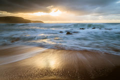 Early Morning Seascape. Beautiful light at Killcare Beach, Central Coast, NSW, Australia Royalty Free Stock Photo