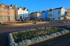 Early morning in Seaton. Town in Devon on the Jurassic Coast Stock Photography