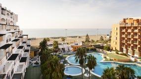 Early Morning Serena Beach Roquetas De Mar Stock Photo