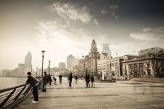 Early morning of shanghai royalty free stock images