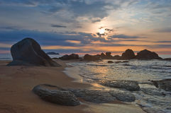 Early morning on the shore of the East Sea. Stock Photo